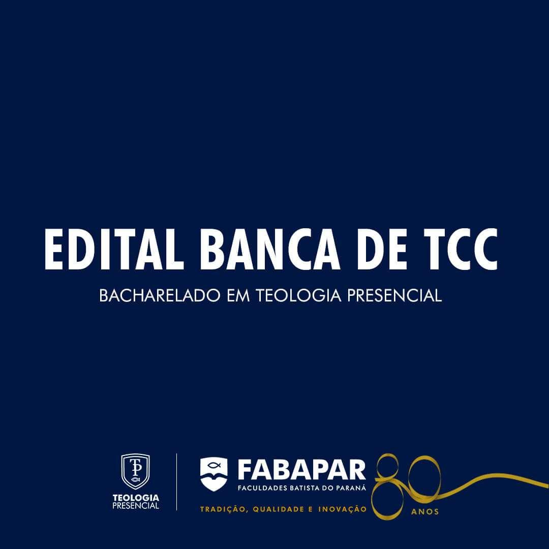 TCC Bacharelado em Teologia Presencial – 2021/01