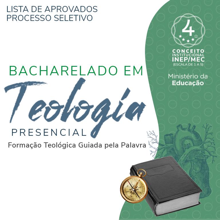 [ATUALIZADO 22/10/2021] – LISTA DE APROVADOS – BACHARELADO EM TEOLOGIA PRESENCIAL 2022/1